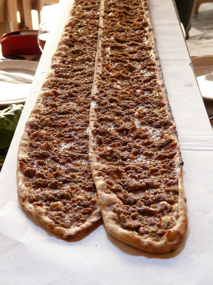 Pastrmajlija, national festival, Macedonian pizza, meat, eggs, long pizza, Macedonian food, Macedonian dish