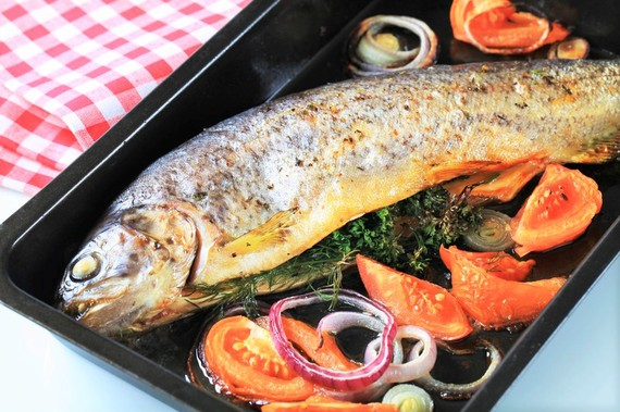 Lake Ohrit, trout, Macedonian trout, salmon, grilled fish, stuffed trout, Macedonian food